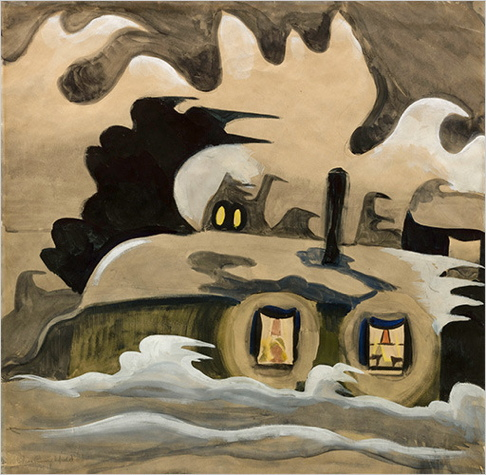 Charles Burchfield, The Night Wind, 1918