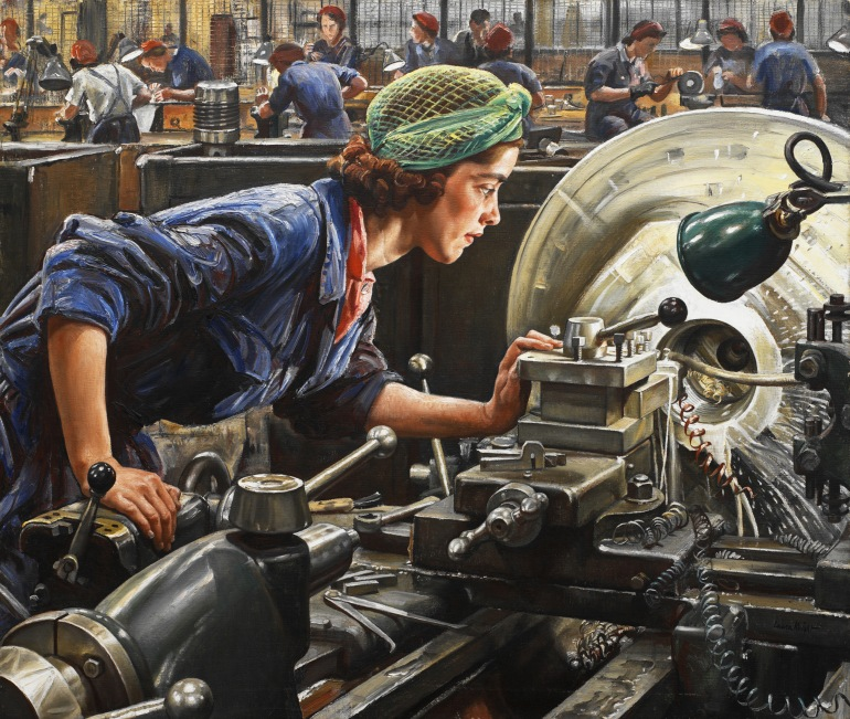 Laura Knight, Ruby Loftus screwing a Breech Ring