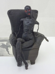 Greer Lankton, Black doll and chair (ca.1980)